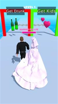 手机情侣跑酷3D游戏